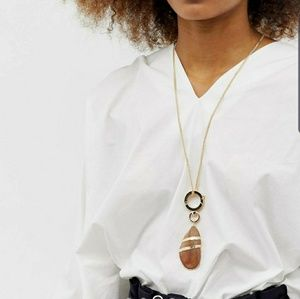 [ASOS] Multirow Necklace with Faux Shell